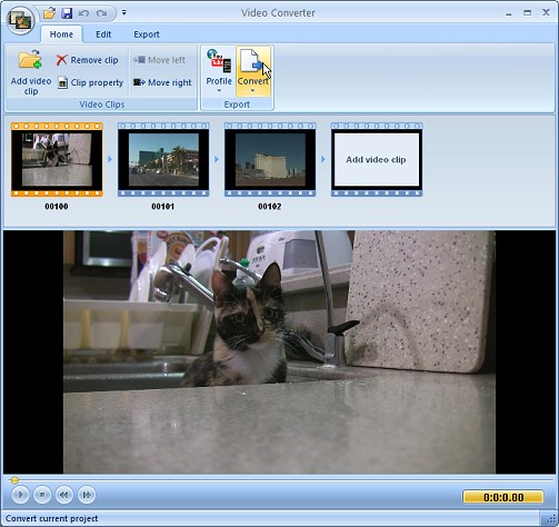 Extensoft Free Video Converter Screenshot