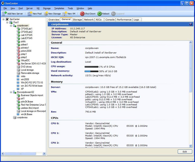 XenServer Screenshot