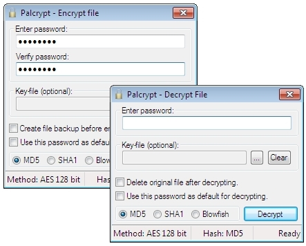 Palcrypt Screenshot 1