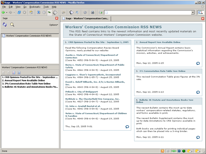 Sage RSS Screenshot