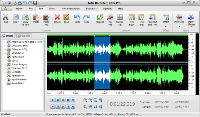 Total Recorder Editor Pro Screenshot