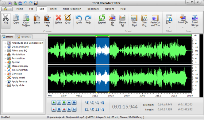 Total Recorder Editor Screenshot
