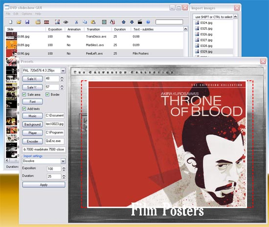DVD slideshow GUI Screenshot