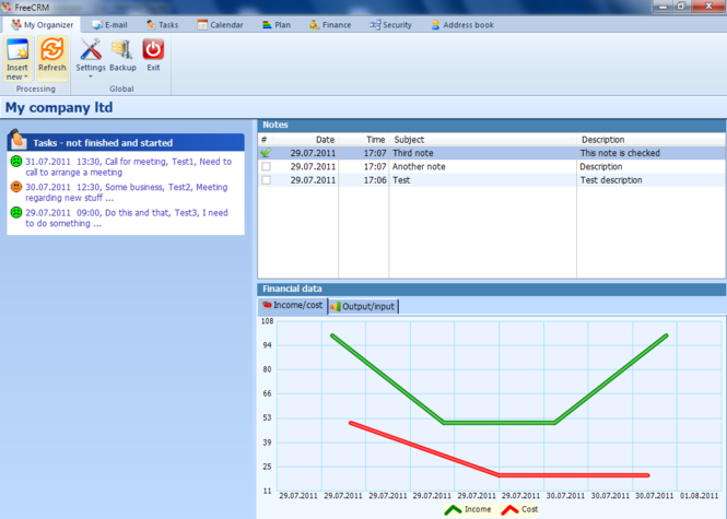 Free CRM Screenshot 1