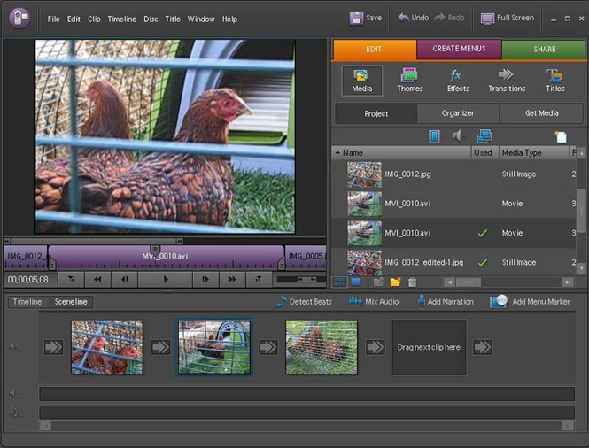 Adobe Premiere Elements Screenshot