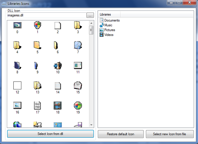 LibraryIconChanger Screenshot