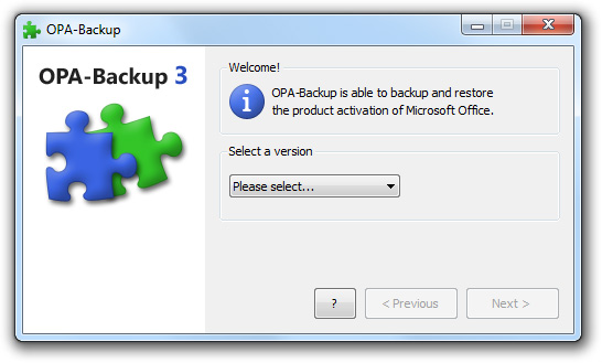 OPA-Backup Screenshot