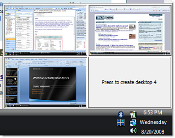 Microsoft Desktops Screenshot