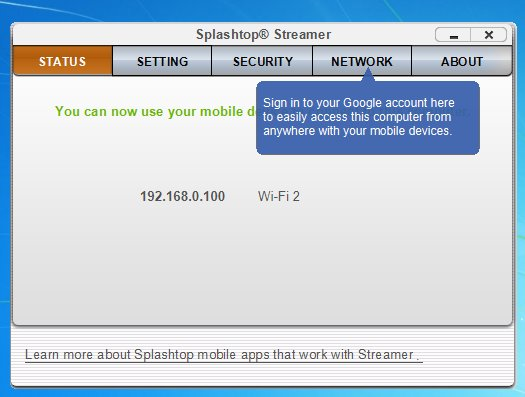 Splashtop Streamer Screenshot