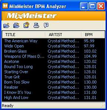 BPM Analyzer Screenshot