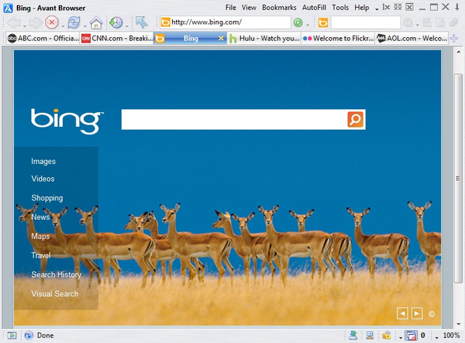 Avant Browser Screenshot 1