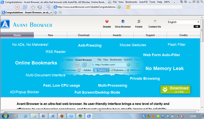 Avant Browser Ultimate Screenshot