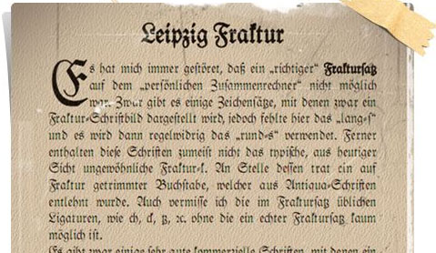 Leipzig Fraktur Screenshot