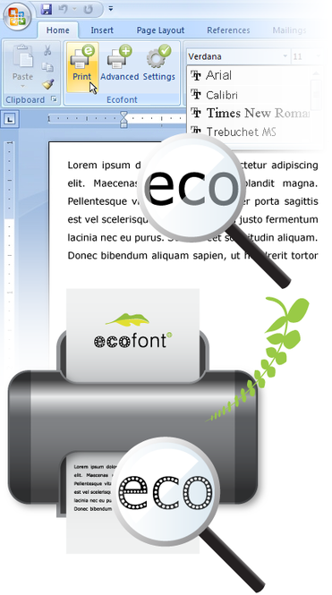 Ecofont Screenshot