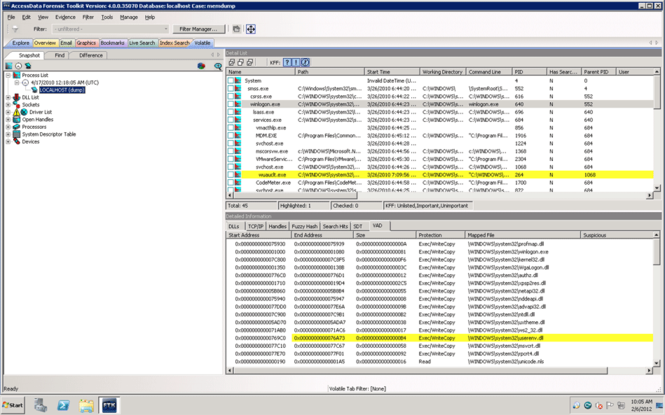 Forensic Toolkit Screenshot 2