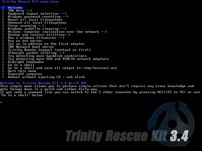 Trinity Rescue Kit Screenshot 1