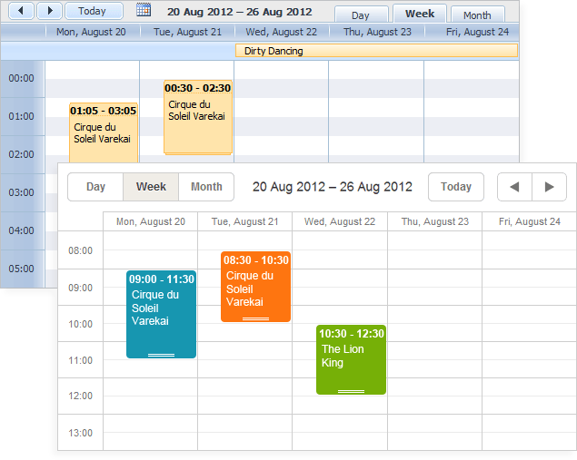 DHTMLX Scheduler .NET Screenshot
