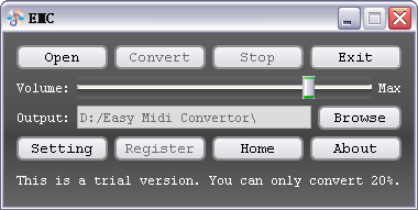 Easy Midi Convertor Screenshot
