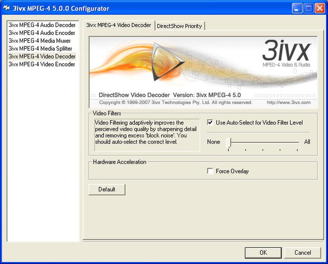 3ivx MPEG Screenshot 2