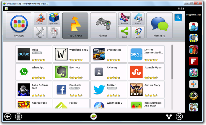 BlueStacks App Player Screenshot 1