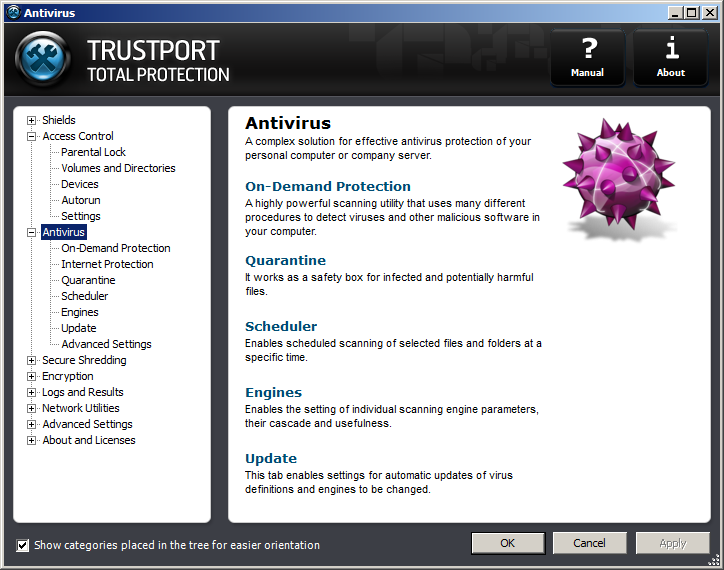 TrustPort Total Protection Screenshot 3