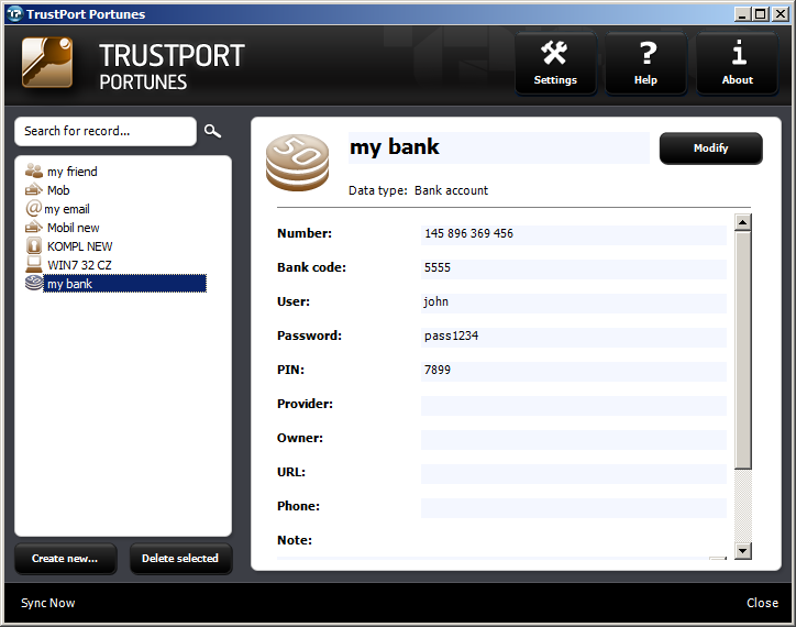 TrustPort Total Protection Screenshot 5