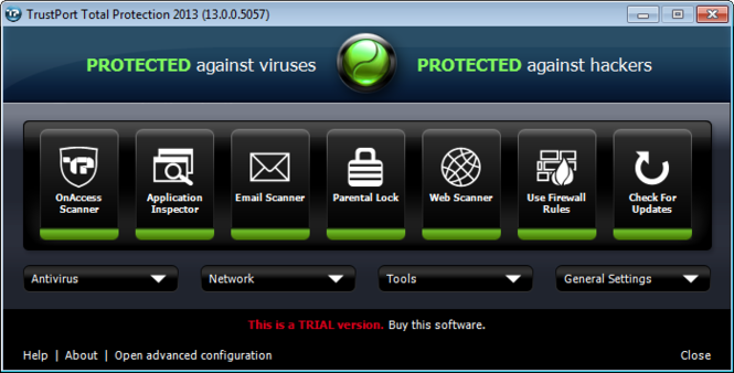 TrustPort Total Protection Screenshot