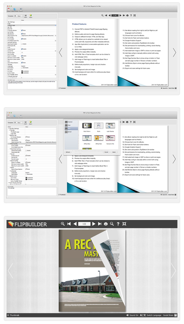 Page Flipping PDF for Mac Screenshot 1