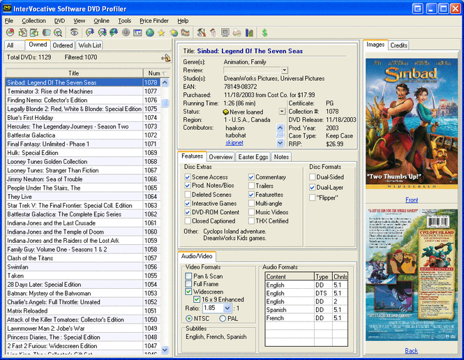 DVD Profiler Screenshot 1