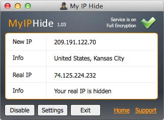 My IP Hide for Mac Screenshot 1