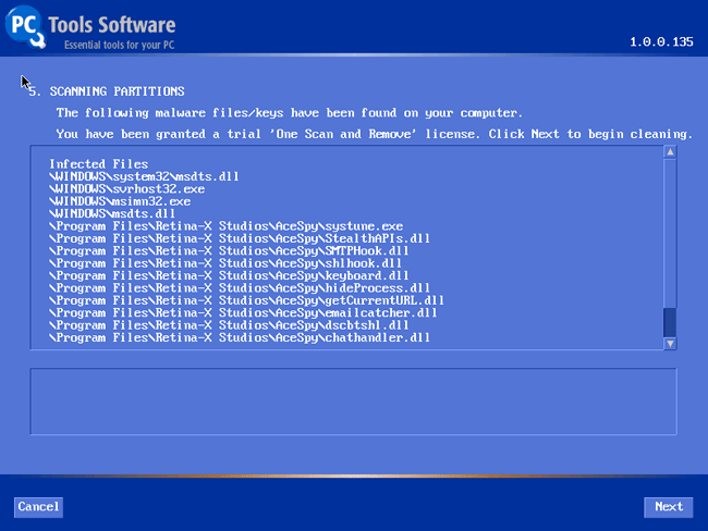 Alternate Operating System Scanner Screenshot 1