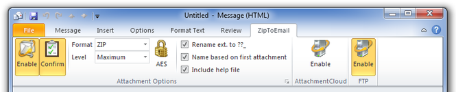 Zip to Email Free Screenshot 1