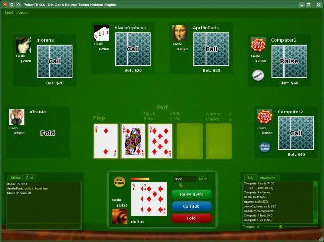 PokerTH Screenshot 1