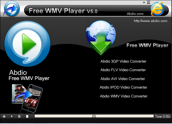 Abdio Free WMV Player Screenshot 1