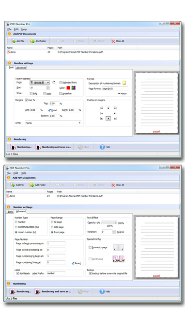 Wise PDF Number Pro Screenshot