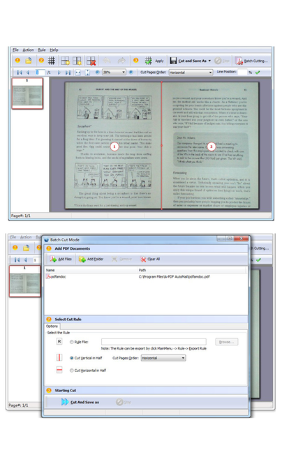 Wise PDF Page Cut Screenshot