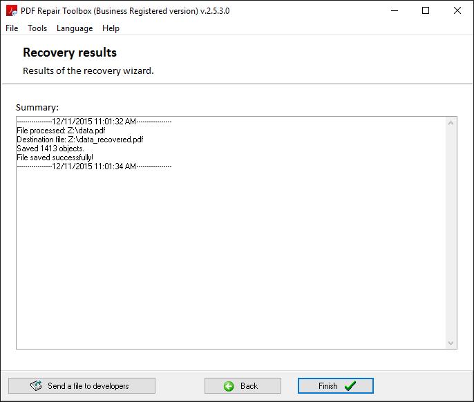 PDF Repair Toolbox Screenshot 5