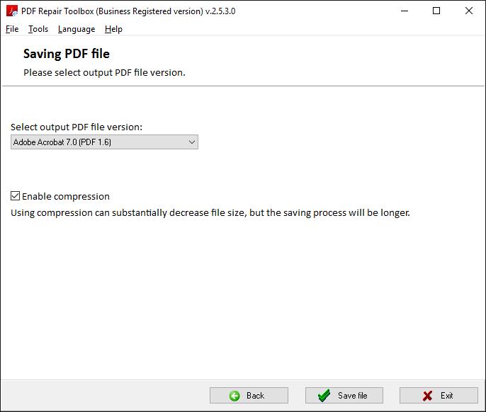 PDF Repair Toolbox Screenshot 4
