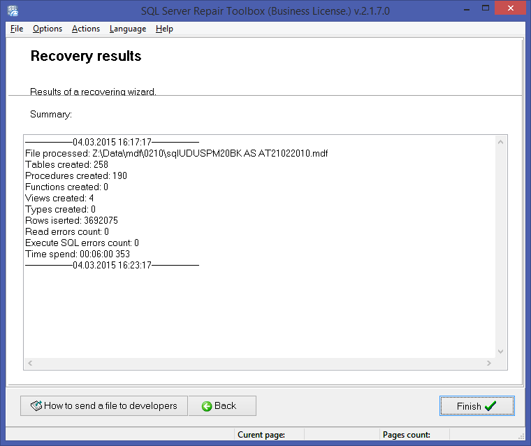 SQL Server Repair Toolbox Screenshot 5