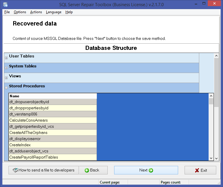 SQL Server Repair Toolbox Screenshot 3