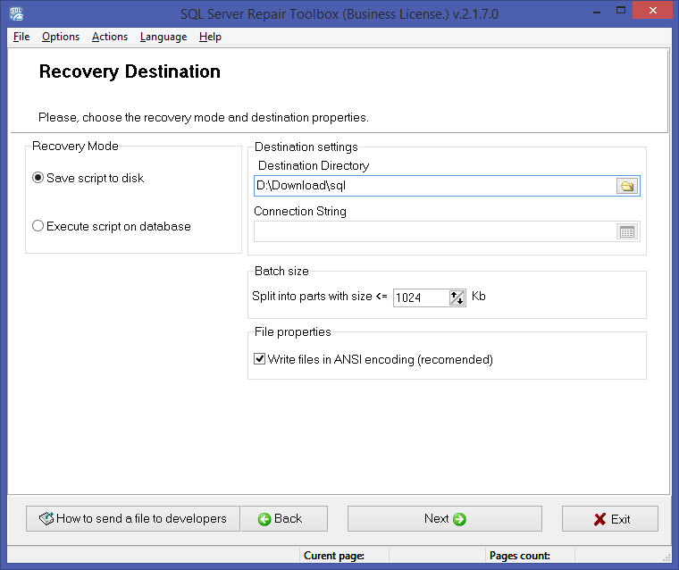 SQL Server Repair Toolbox Screenshot 4