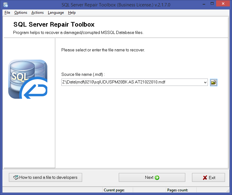 SQL Server Repair Toolbox Screenshot 2