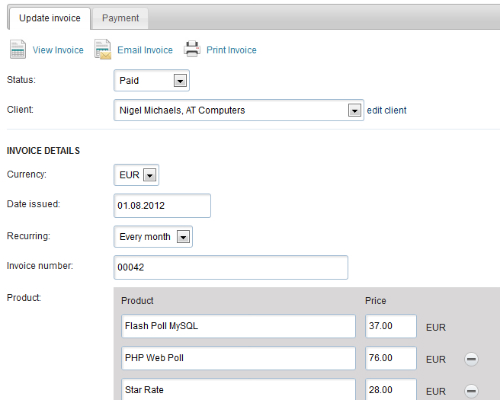 Invoice Manager Screenshot