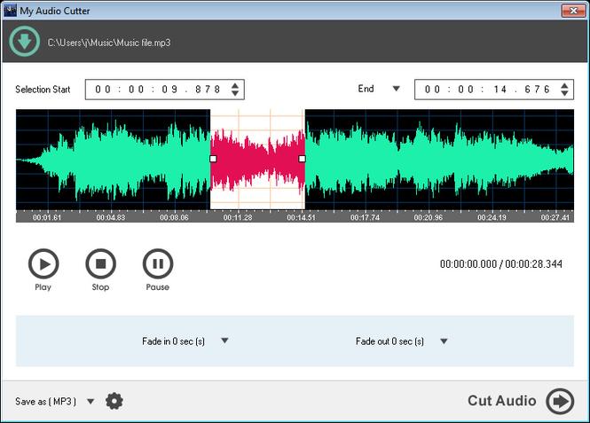 My Audio Cutter Screenshot