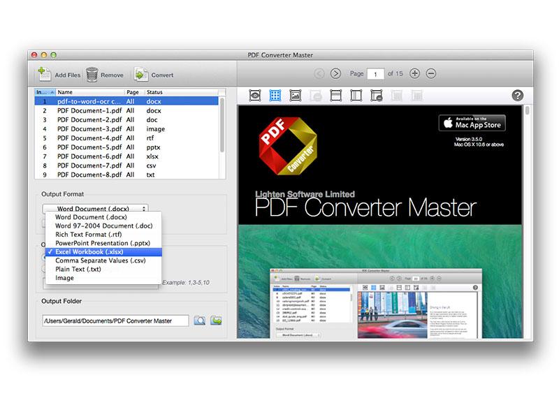 Lighten PDF Converter Master for Mac Screenshot 2