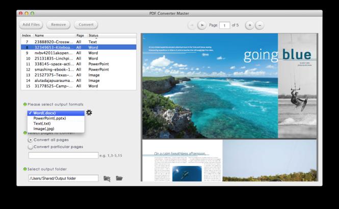 Lighten PDF Converter Master for Mac Screenshot
