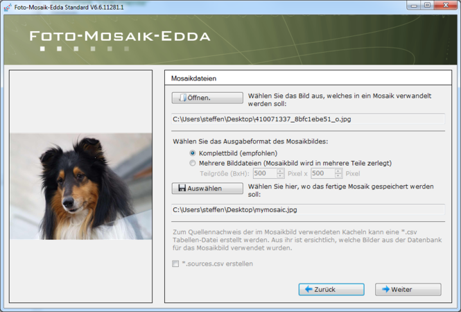 Foto-Mosaik-Edda Screenshot