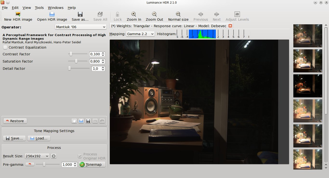 Luminance HDR Screenshot 1