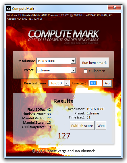 ComputeMark Screenshot