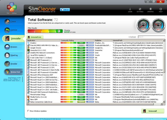 SlimCleaner Screenshot 2